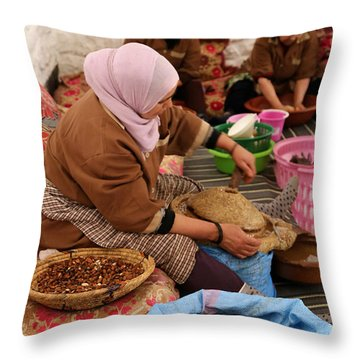 Throw Pillow featuring the photograph Argan Oil 2 by Andrew Fare