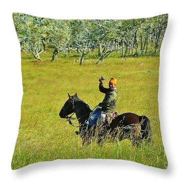 Throw Pillow featuring the photograph Argentina Gaucho by Michele Penner