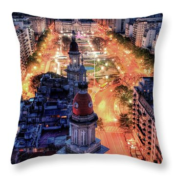 Throw Pillow featuring the photograph Argentina National Congress by Bernardo Galmarini