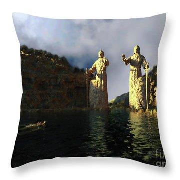 Throw Pillow featuring the sculpture Argonauth by Dave Luebbert
