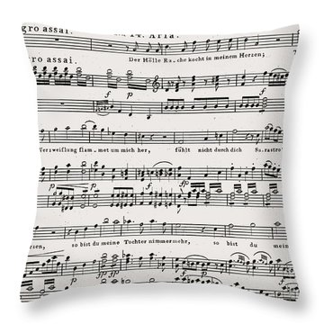 Aria For The Queen Of The Night, In Act II Of Wolfgang Amadeus Mozart 's Opera The Magic Flute Throw Pillow