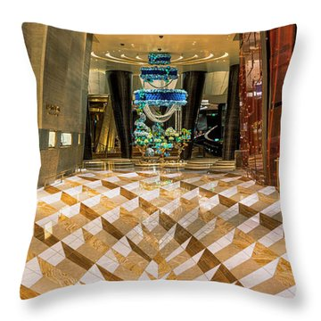 Aria High Limit Lounge Entrance Throw Pillow