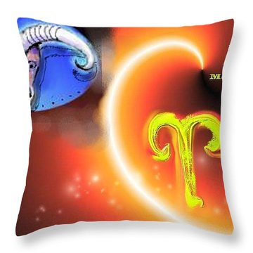 Throw Pillow featuring the painting Aries by The Art of Alice Terrill