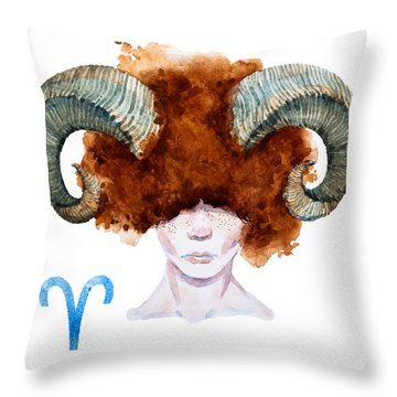 Aries Throw Pillow