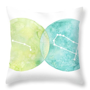 Aries And Gemini Throw Pillow
