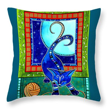 Aries Cat Zodiac Throw Pillow