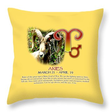 Aries Sun Sign Throw Pillow