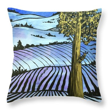 Throw Pillow featuring the painting Arise And Shine by Nathan Rhoads