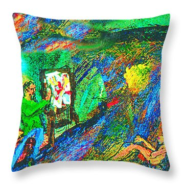 Aritist And Model Throw Pillow