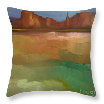 Arizona Calm Throw Pillow