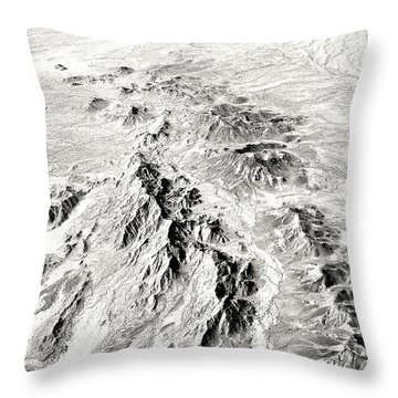 Arizona Desert In Black And White Throw Pillow