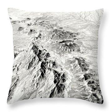 Arizona Desert In Black And White Throw Pillow