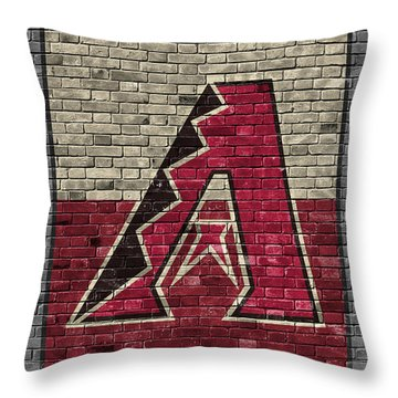 Arizona Diamondbacks Brick Wall Throw Pillow