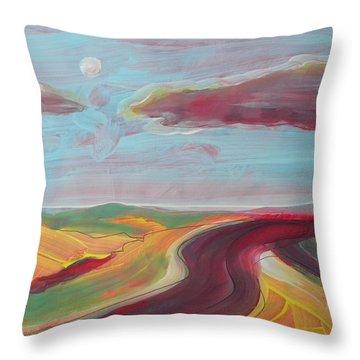 Arizona Highway 2 Throw Pillow