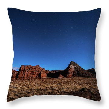 Arizona Landscape At Night Throw Pillow