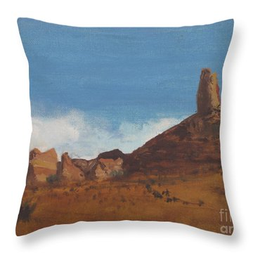 Arizona Monolith Throw Pillow by Suzette Kallen