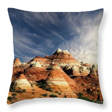 Throw Pillow featuring the photograph Arizona North Coyote Buttes by Bob Christopher