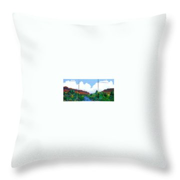 Throw Pillow featuring the painting Arizona Sky by Bernard Goodman
