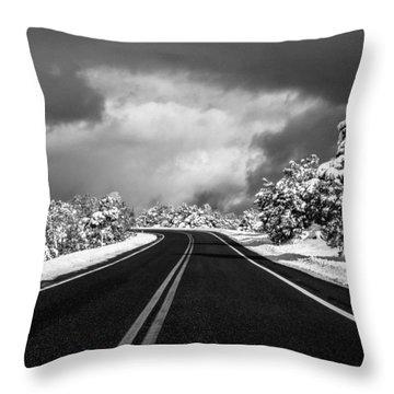 Arizona Snow Throw Pillow