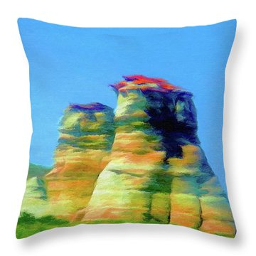 Arizona Spring Throw Pillow by Jeff Kolker