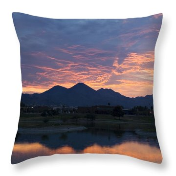 Arizona Sunset 2 Throw Pillow