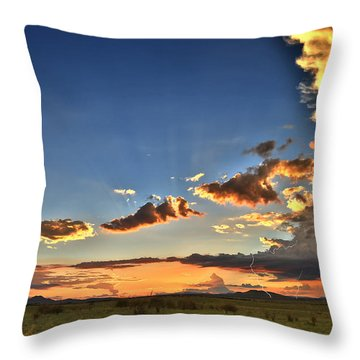 Arizona Sunset Storm Throw Pillow