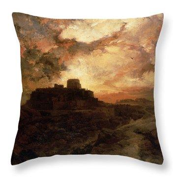 Arizona Sunset Throw Pillow by Thomas Moran