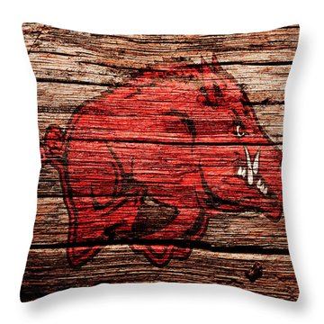 Arkansas Razorbacks 1a Throw Pillow by Brian Reaves