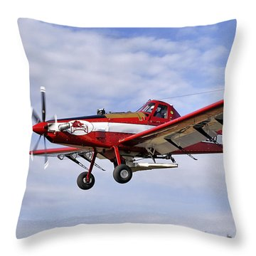 Arkansas Razorbacks Crop Duster Throw Pillow