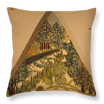 Throw Pillow featuring the painting Arkansas Road by Erika Chamberlin