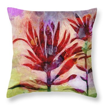 Arkansas Valley Indian Paintbrush Throw Pillow by Julie Maas
