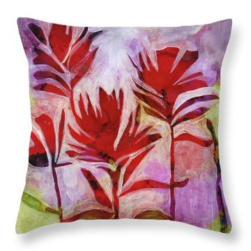 Arkansas Valley Paintbrush Throw Pillow by Julie Maas