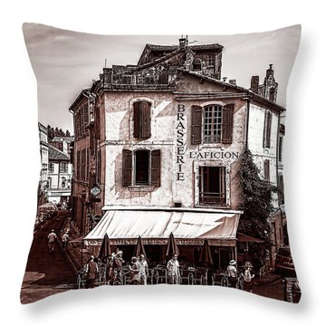 Arles, France, In Sepia Throw Pillow