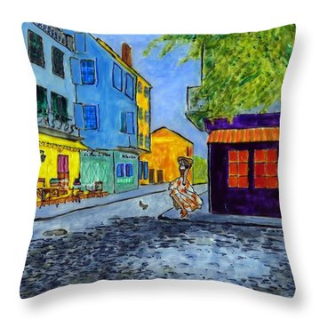 Arles Morning Throw Pillow by Phil Strang