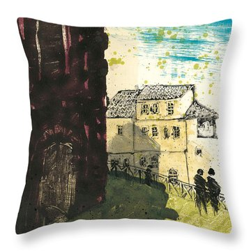 Throw Pillow featuring the painting Arles Near Arena Provence by Martin Stankewitz