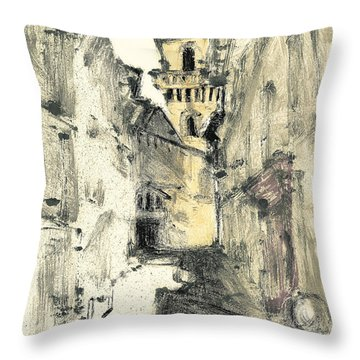 Throw Pillow featuring the painting Arles Provence by Martin Stankewitz