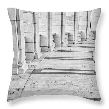 Throw Pillow featuring the photograph Arlington Amphitheater Arches And Columns II by Susan Candelario