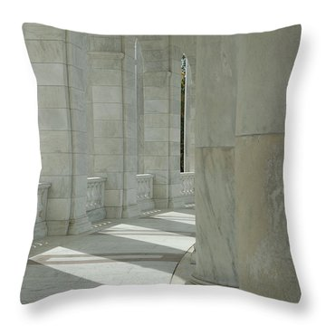 Arlington Memorial Amphitheater Hall Throw Pillow