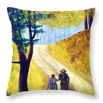 Arm In Arm Throw Pillow by Brian Wallace