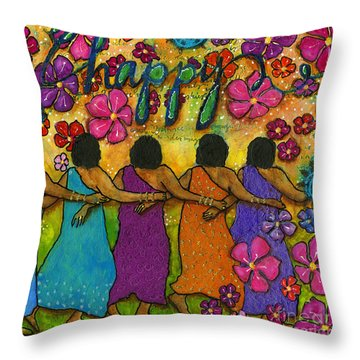 Arm In Arm - The Strongest Chain Throw Pillow by Angela L Walker