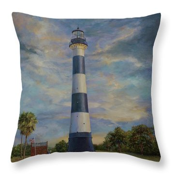 Armadillo And Lighthouse Throw Pillow