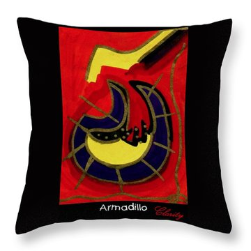 Throw Pillow featuring the painting Armadillo by Clarity Artists
