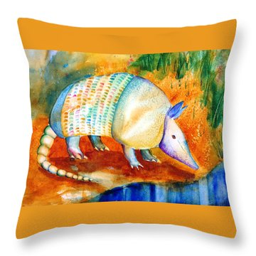Armadillo Reflections Throw Pillow