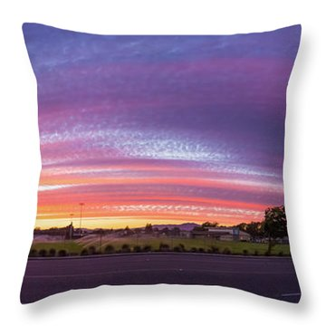 Throw Pillow featuring the photograph Armijo Sunset by Geoffrey C Lewis