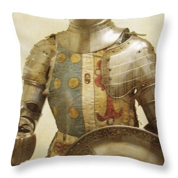 Armor Hot Dog Throw Pillow by Kevin  Sherf
