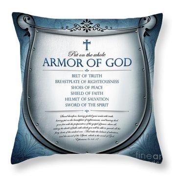 Armor Of God Throw Pillow