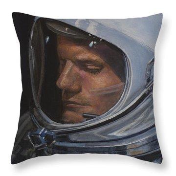 Armstrong- Gemini Viii Throw Pillow by Simon Kregar