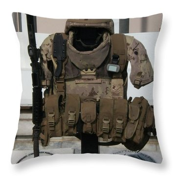 Army Gear Throw Pillow