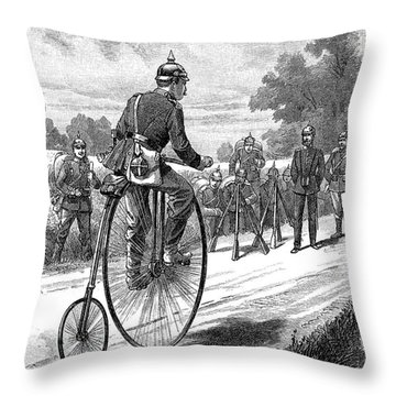 Army Messenger, 1890s Throw Pillow by Granger