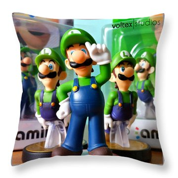 Army Of Luigi Throw Pillow